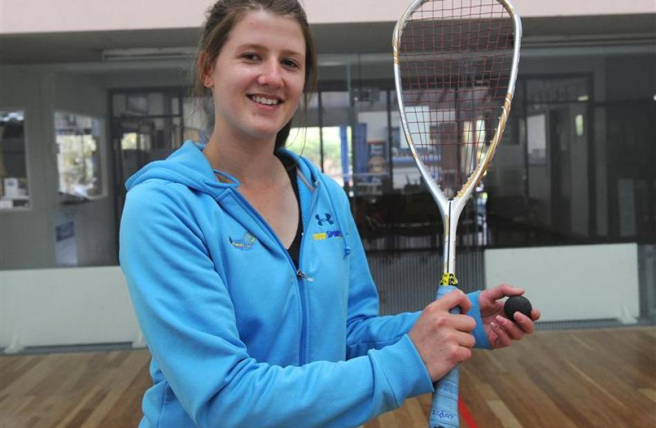 """Sophie Askin: """"It [squash] really tests you how hard you can go"""". Photo by Craig Baxter."""