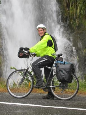 South Canterbury primary school teacher Andrew Oliver had the Haast Pass road almost to himself...