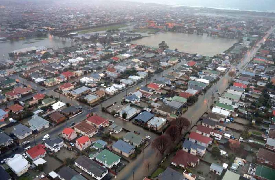 South Dunedin was hit hard by the floods last month