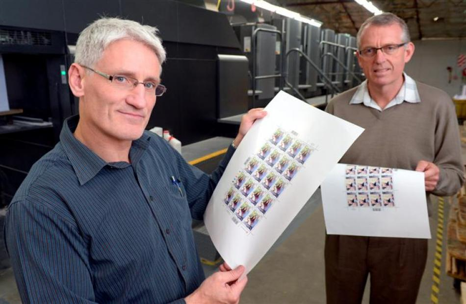 Southern Colour Print product manager Jimi Brandham (left) and managing director Sean McMahon...