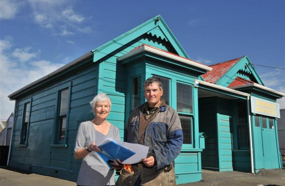 Southern Heritage Trust member Ann Barsby and Peter Mason, a volunteer at the nearby Dunedin...