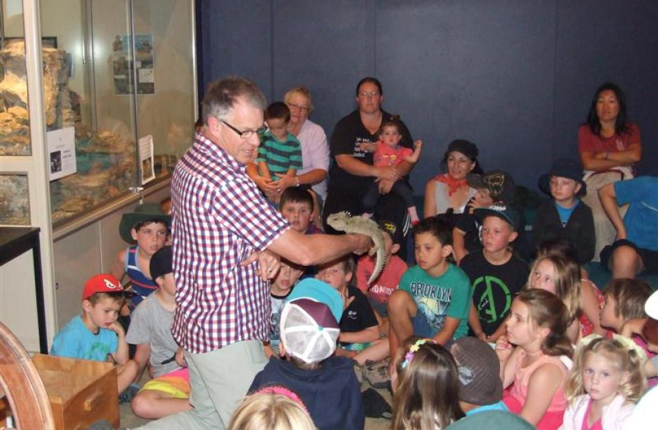 Southland Museum tuatara curator Lindsay Hazley visited the Central Stories Museum and Art...