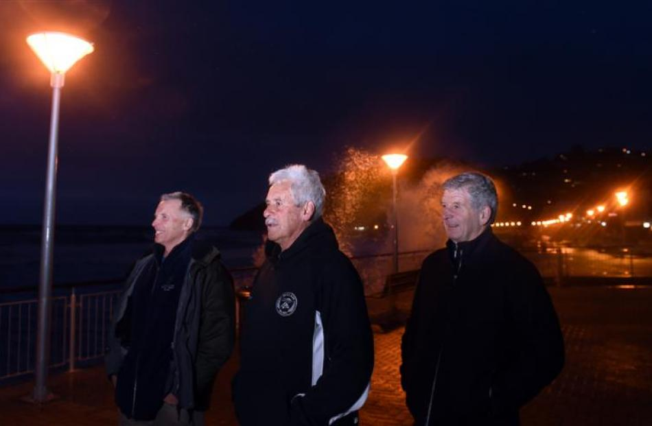 St Clair residents (from left) Peter Haslemore, Bart Smaill and Graeme Newton are angry about...