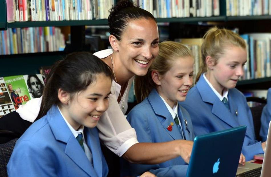 St Hilda's Collegiate School teacher Donna Smith shares  her information technology skills with...