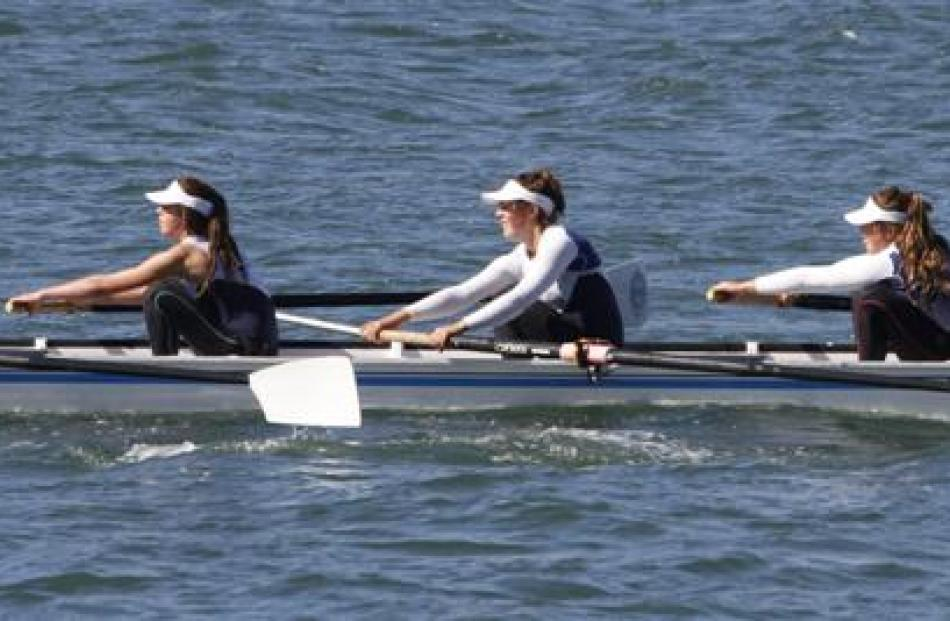 St Hilda's rowers (from left) Brieanna Shea, Stella Keown, Josie Cook, Kate Edwards and Gabbu...