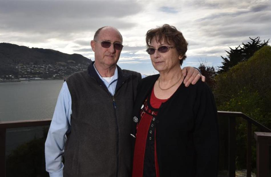 Steve and Lorraine Hawkins say the Dunedin City Council is responsible for stormwater flooding...