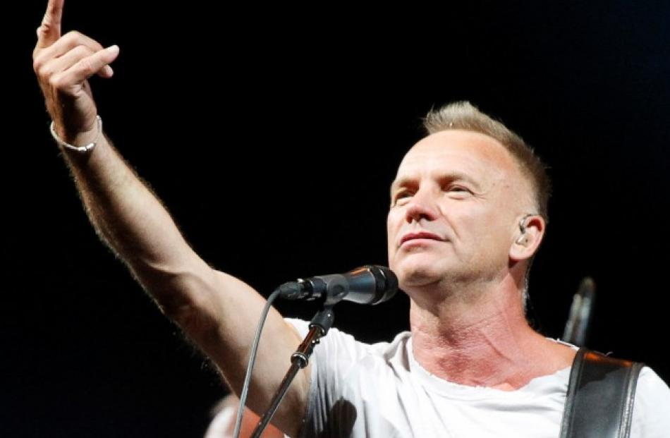 Sting performs during his concert at the Olympic Sports Complex in Moscow. REUTERS/Maxim Shemetov