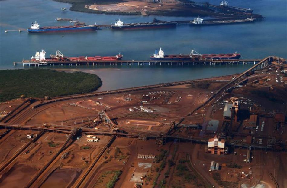 Subdued iron ore prices are likely to take some of the gloss off Australian economic growth....