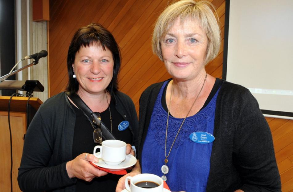 Sue O'Connell of Dunedin, and Cindi Ewart of Mosgiel.