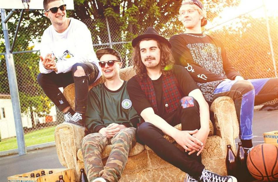 Summer Thieves, (from left) Adam Spencer, Johnny Ward, Jake Barton and Angus Cleland, are playing...