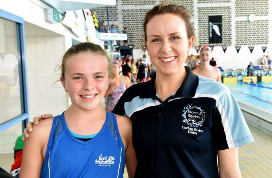 Baileigh O'Sullivan (13) and Louise Boyle, both of Christchurch.