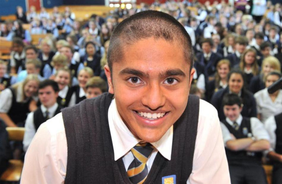 Taieri College deputy head boy Bart Lind was one of about a dozen pupils at the school who had...