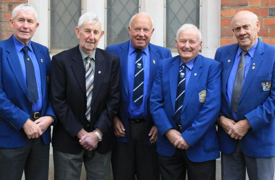 Taieri Lions Club members (from left) Allan Free, Drew Stevenson, Howard Ashton, Eric Hyslop and...