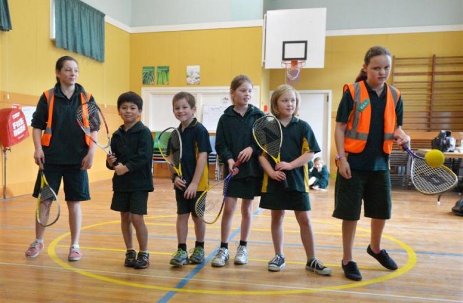 Taking part, from left, are Britney Mooyman (12), Joseph Nicol (8), Brock King (8), Anna Burnett ...