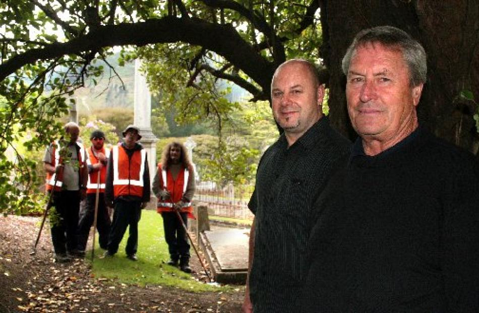 Taskforce Green co-ordinator Alex Griffin (far right) is retiring for the second time from the...