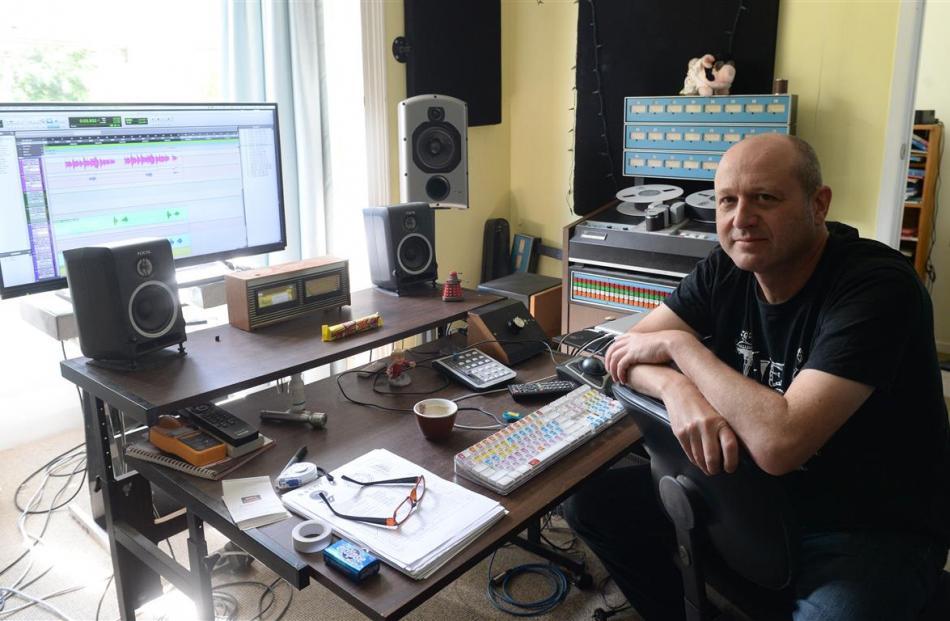Tex Houston in his Dunedin home studio. Photo by Linda Robertson.