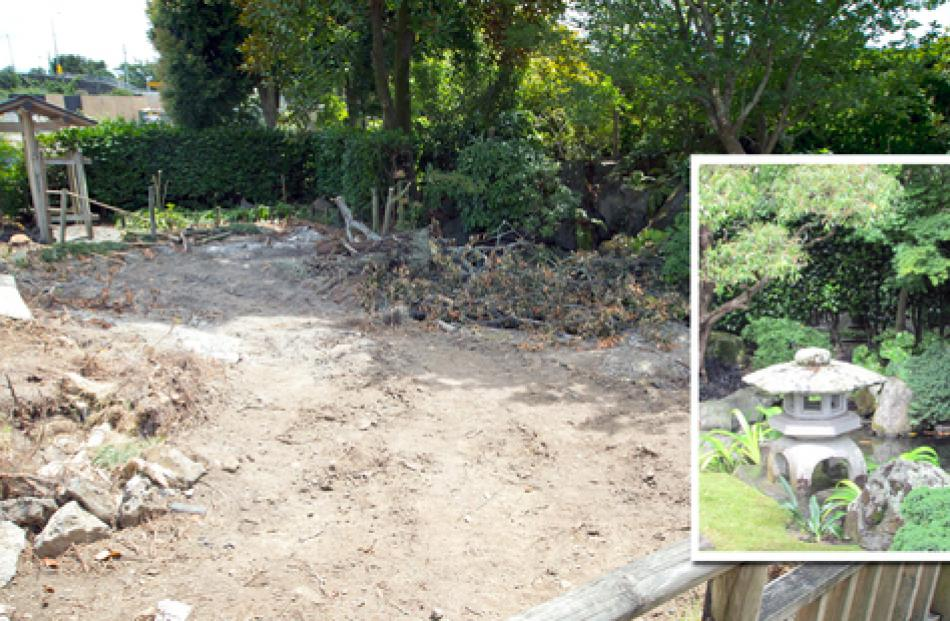 The area at Auckland Zoo where the Fukuoka Japanese garden used to be - and what it looked like...