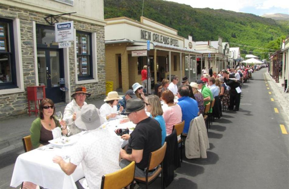 The  Arrowtown Long Lunch, which had a successful debut in December last year, returns on Sunday...