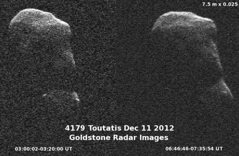 The asteroid Toutatis is captured by NASA's Goldstone radar as it passes by Earth. REUTERS/NASA...