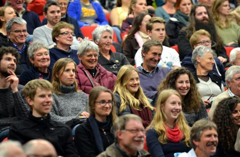 The audience yesterday. Photos by Peter McIntosh.