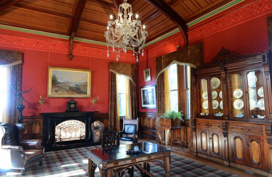 The castle's refurbished music room is dramatically different to how it used to look.
