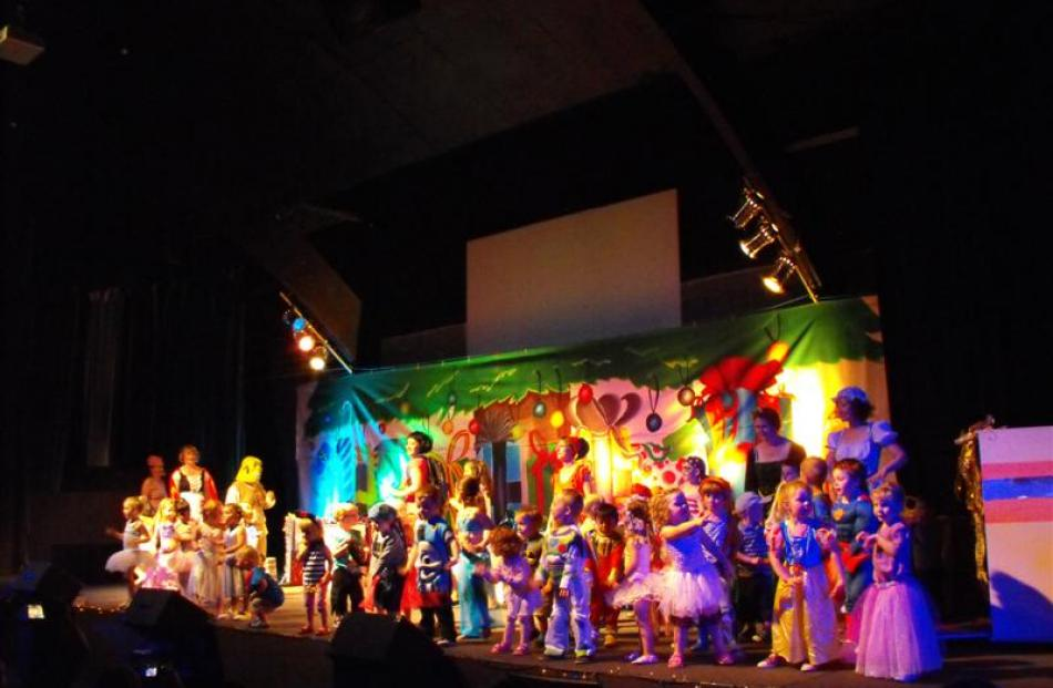 The children display their singing and dancing skills in the Toy Story Christmas show on Saturday...