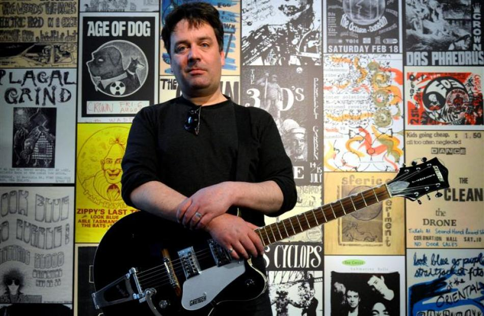 The Chills singer-songwriter Martin Phillipps at a preview of the Dunedin Sound Exhibition at the...