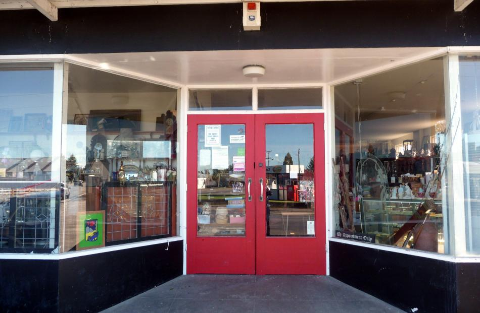 The closed doors of the Mayfield Emporium Overflow. Photos by Clare Gleeson.