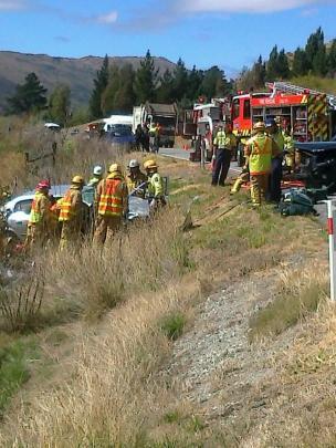 The crash scene. Photo by Christina McDonald