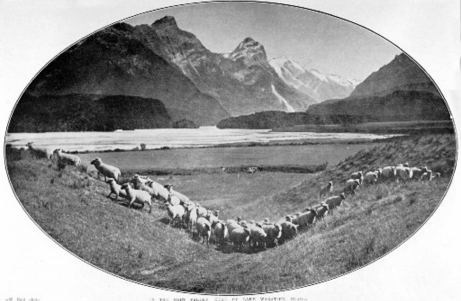 The Dart Valley at the head of Lake Wakatipu.- Otago Witness, 25.12.1912. Copies of picture...