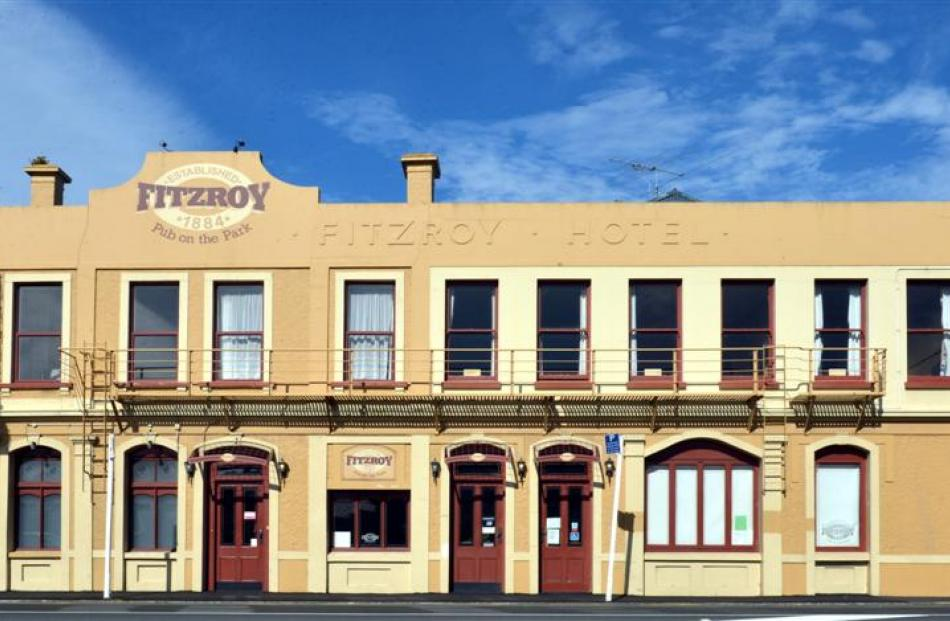The Fitzroy Hotel in South Dunedin, which is now closed. Photo by Peter McIntosh.