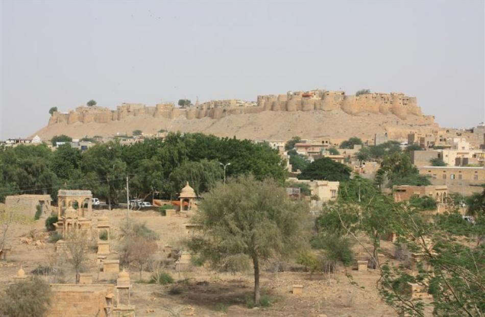 The formidable Jaisalmer Golden Fort, built in 1155AD, is a living relic of ancient Mugal empires...