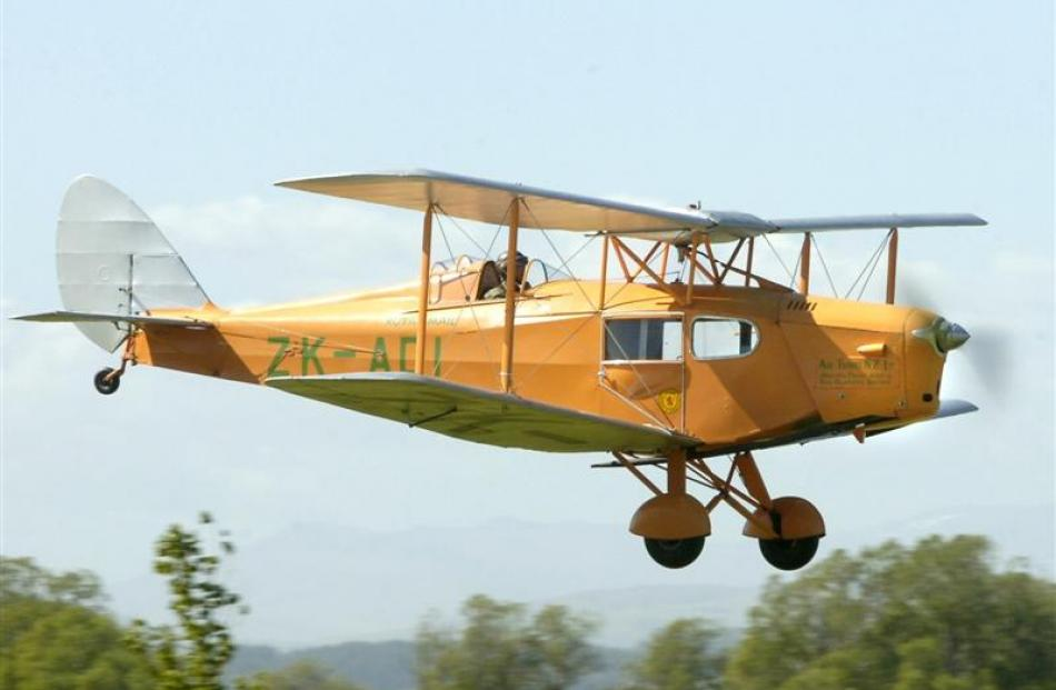 The Fox Moth owned by Colin and Maeva Smith and based at the Mandeville airfield which tomorrow...