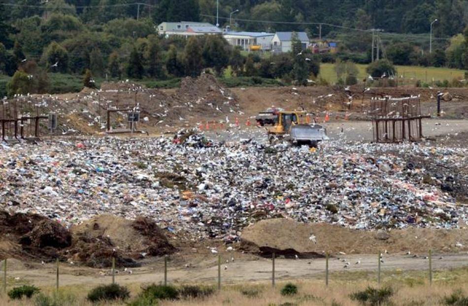The Green Island landfill. Photo by ODT.