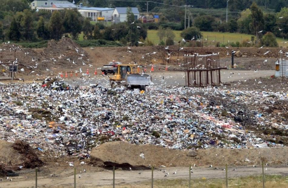 The Green Island landfill. Photo by ODT