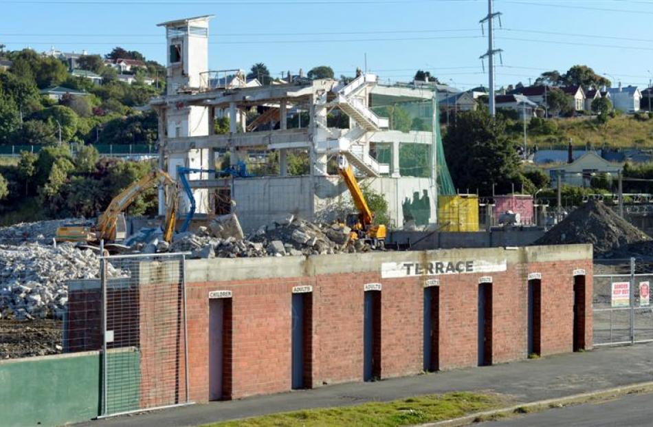 The historic turnstile building in Neville St, South Dunedin, will soon be all that is left of...