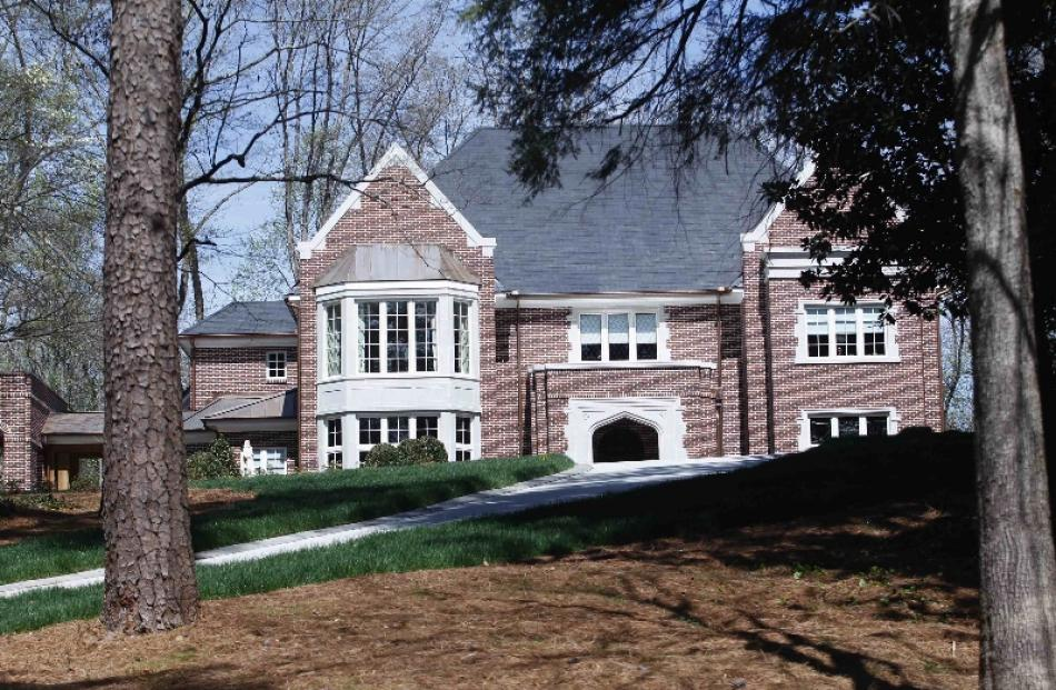 The home of Atlanta Archbishop Wilton Gregory is seen in the Buckhead district of Atlanta,...