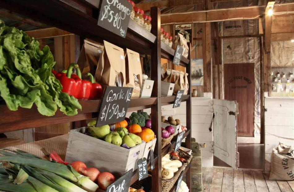 The interior of Steve and Heather Wilkins' vege shed.