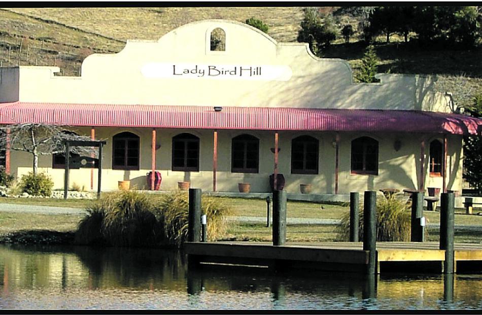 The Ladybird Hill Vineyard and Restaurant in Omarama.