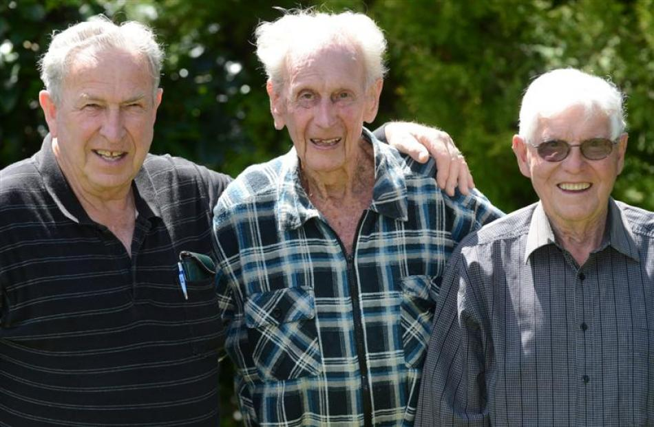 The longest serving members of the Mosgiel Rotary Club (from left) Eric Shaw (78), 52 years'...