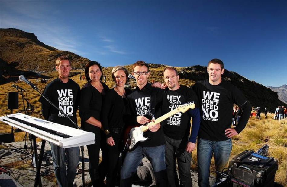 The Lynch Mob (from left) Nick Lynch, Stacey McDonald, Emma Pullar, Ben Lynch, Marc Hamilton and...