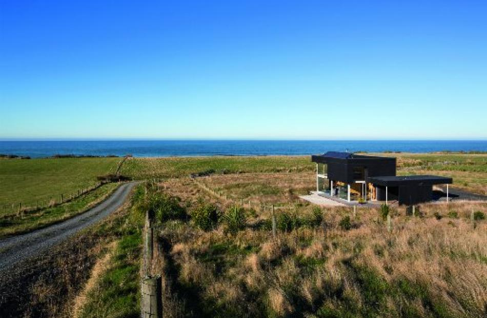 The McCoy and Wixon Architects-designed holiday house at Taieri Mouth, south of Dunedin.