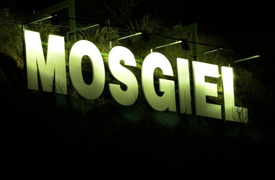 The Mosgiel sign overseeing Mosgiel, in which the new subdivision is planned. Photo by ODT.