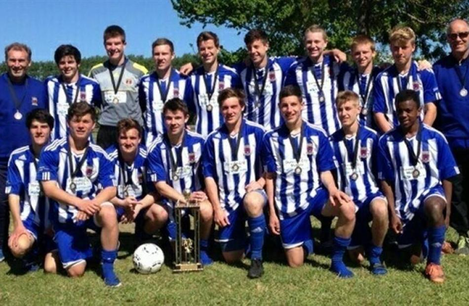The Mosgiel under-19 football team, which won an invitational tournament in Christchurch at...