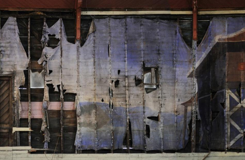 The mural, which has been discovered behind a wall during demolition of the Port Chalmers...