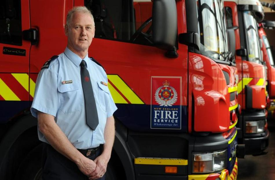 The new Fire Service East Otago area manager Laurence Voight  at the Dunedin Central Fire Station...