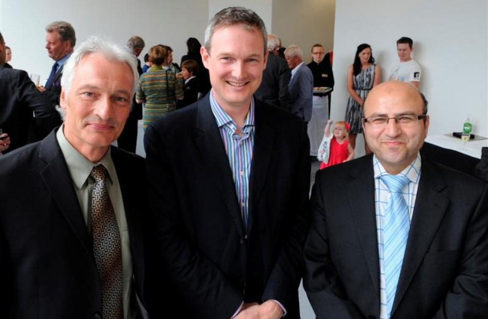 The new neurosurgery team (from left) Prof Dirk de Ridder, Reuben Johnson and Ahmad Taha.