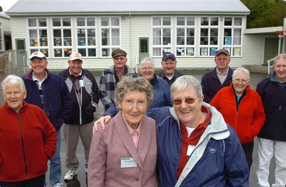 The Newall family meet for the first time in years for the Wakari School reunion. (Front from...