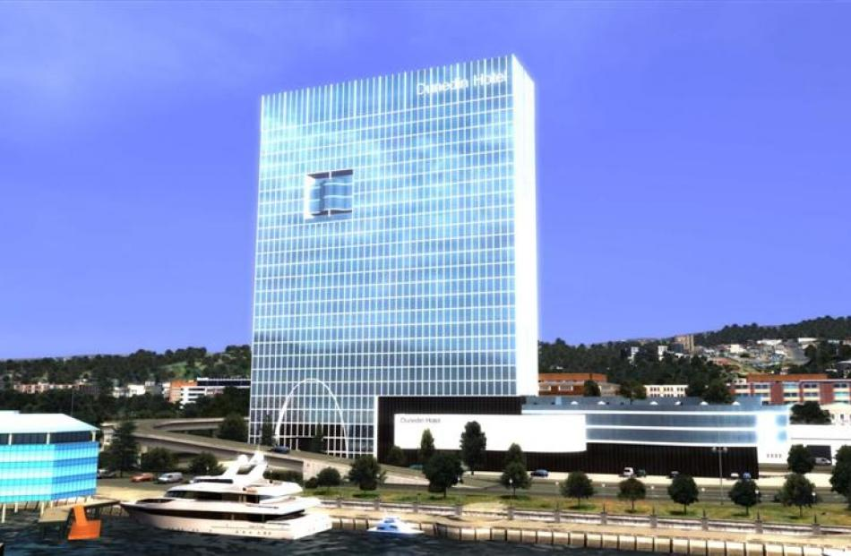 The old design for the proposed waterfront hotel, which critics say will need a serious overhaul...