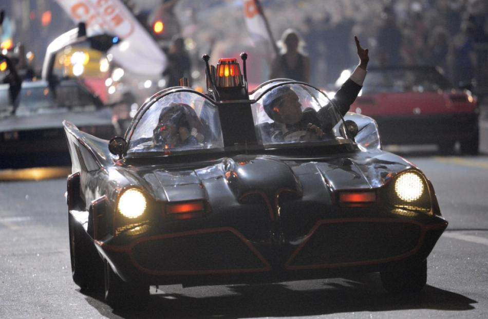 The original Batmobile, seen during the Hollywood Christmas Parade in Los Angeles. Photo by Reuters